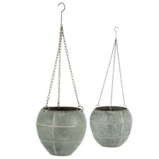 2 Piece Chained Hanging Planter Set