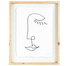 Abstract Line Face Framed Wall Art
