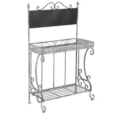 Ornate 2 Tier Plant Stand with Blackboard