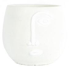 Small White Pablo Cement Pot Planter