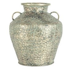 Antique Gold Hammered Vase