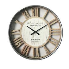 70cm Whitewash Rustic Metal Wall Clock