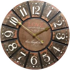 60cm Rustic Love Wall Clock