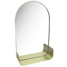 Gold Arch Slimline Wall Mirror