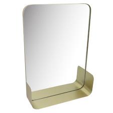 Gold Rectangular Slimline Wall Mirror