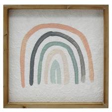 Green & Coral Naive Arc Framed Printed Wall Art