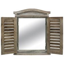 Lorette Shutter Frame Wall Mirror