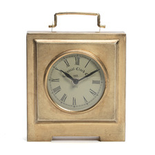 Antique Brass Colonial Square Table Clock