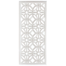 Hamptons Symmetrical Hand-Carved Wall Accent