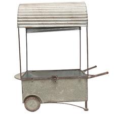 Vintage Metal Market Flower Cart