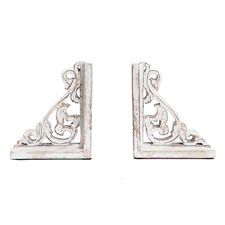 2 Piece French Provincial Hand-Crafted Bookends Set