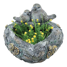 Lovebirds on Heart Planter