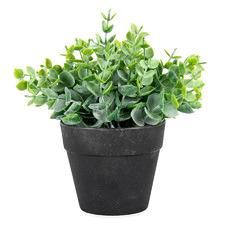 17cm Potted Faux Leaf-Grass Plant