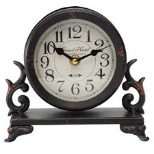 18cm Ornate Grand Hotel Period Iron Table Clock