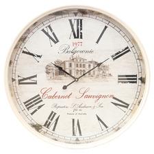 60cm XL Chateau Renier Iron Wall Clock