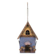 Rusty Hanging Blue Birdhouse Decor