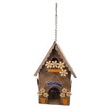 Rusty Hanging Birdhouse Decor
