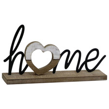 Home Table Plaque with Heart Ornament