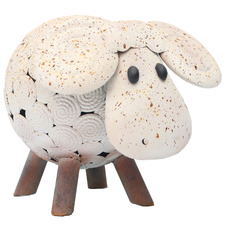 Natures Art Bobbing Head Child Sheep Garden Ornament