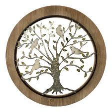 Galvanised Framed Tree of Life Wall Decor