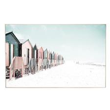 Lorne Beach Houses Framed Canvas Wall Art