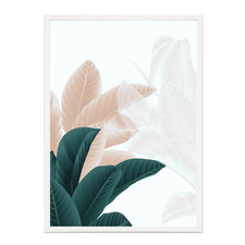 Broadleaf Teal Framed Printed Wall Art