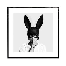 Quiet Bunny Framed Printed Wall Art
