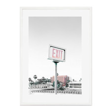 Seaside Exit Framed Printed Wall Art