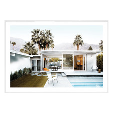 Californian Pool House Framed Printed Wall Art