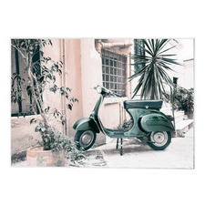 Vinta Scooter Framed Canvas Wall Art