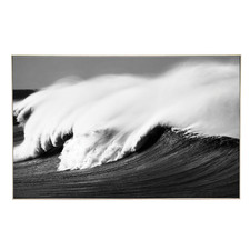 Dark Waves Framed Canvas Wall Art