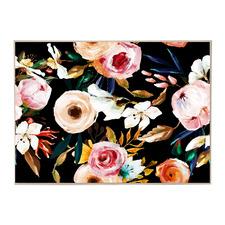 Black Garden Framed Canvas Wall Art