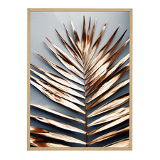 Copper Laurel Framed Printed Wall Art