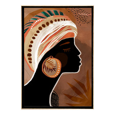 Umber Framed Printed Wall Art