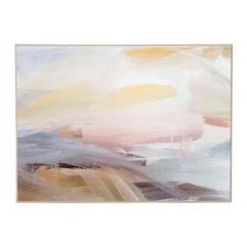 Soft Strokes Framed Canvas Wall Art