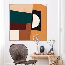 Maple Edges Framed Canvas Wall Art