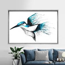 Kingfisher Flourish Framed Print