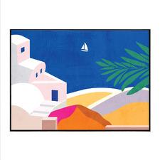 Greece Living Canvas Wall Art