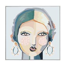 Lady June Canvas Wall Art