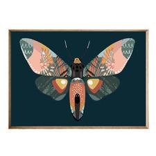 Mosaic Moth Acrylic Wall Art
