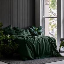Forest Organic Linen Quilt Cover Set