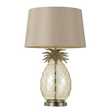 Champagne & White Ananas Table Lamp