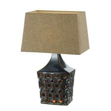 Navy Hisken Ceramic Table Lamp