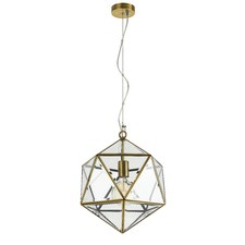 Brass Prizma 1 Light Metal Pendant