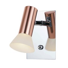 Polished Pena Single Light Wall Lamp