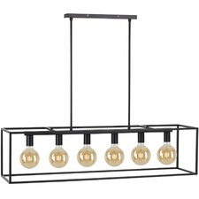 Black Collins 6 Light Pendant