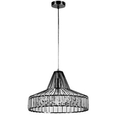 Large Diamant 1 Light Metal Pendant