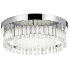 Andela Round Metal Glass Oyster Light