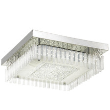 Andela Square Metal Glass Oyster Light