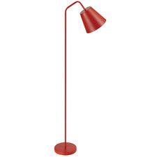 Red Baja Metal Floor Lamp